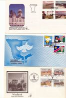 Namibia Swakopmund Views Independence Windhoek Architecture Day Of Issue Cancel  1990 1992 A04s - Namibia (1990- ...)