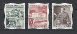 YOUGOSLAVIE. YT  N° 634/636  Neuf *   1953 - Neufs