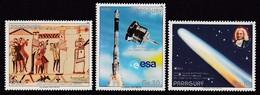 SERIE NEUVE DU PARAGUAY - PASSAGE DE LA COMETE DE HALLEY N° Y&T PA 1010 A 1012 - Astronomie
