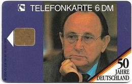 Germany - 50 Jahre Deutschland - Hans Dietrich Genscher - O 0238 - 09.92, 6DM, 16.000ex, Used - Germany