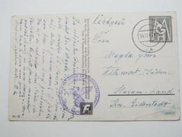 1943 ,Marine - Nordseestation Cuxhaven, Klarer Stempel Auf Feldpostkarte Mit Truppensiegel - Allemagne