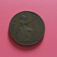 GRAN BRETAGNA  - ENGLAND  1927  Moneta 1 PENNY Giorgio V - 1971-… : Monete Decimali