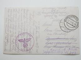 1940 , Benneckenstein, Klarer Stempel Auf Feldpostkarte Mit Truppensiegel - Allemagne