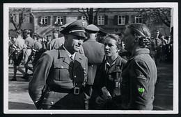 Foto AK/CP Esslingen  1. Mai  HJ Mädel Gebietsdreieck    Nazi  Ungel/uncirc.1935 Erhaltung/Cond. 2  Nr. 00596 - Guerre 1939-45