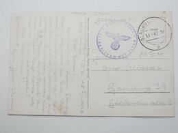 1942, GLADAU, Klarer Stempel Auf Feldpostkarte Mit Truppensiegel - Allemagne