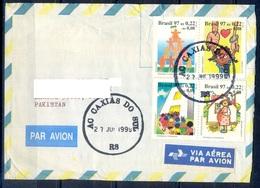K295- Postal Used Cover. Posted From Brasil Brazil To Pakistan. - Brazil