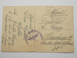 1941 , LANGENDIEBACH über  Hanau, Klarer Stempel Auf Feldpostkarte Mit Truppensiegel - Allemagne