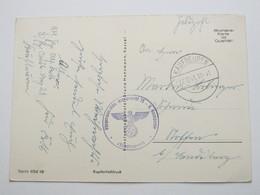 1941 , KAUFBEUREN , Klarer Stempel Auf Feldpostkarte Mit Truppensiegel - Allemagne