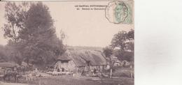 CPA - 40. LE CANTAL PITTORESQUE - Devant La Chaumière - France