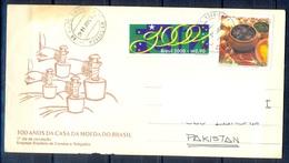 K308- Postal Used Cover. Posted From Brasil Brazil To Pakistan. - Brazil