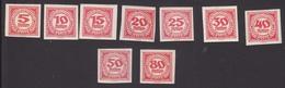 Timbres Neufs** D'autriche, N°93-101 Yt, Taxe, Non Dentelés - 1850-1918 Empire