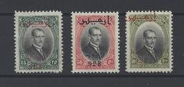 TURQUIE. YT  N° 737-738-739  Neuf *   1928 - Neufs