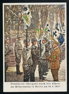 AK/CP Propaganda Panzer Stahnsdorf Bei Potsdam  Hitler Standarten Ungel/uncirc.1937 Erhaltung/Cond. 2 Nr. 00597 - Weltkrieg 1939-45