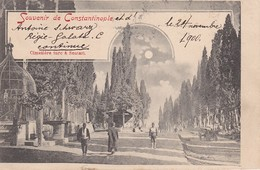SOUVENIR DE CONSTANTINOPLE , CIMETIERE TURC A SCUTARI , 1900 , T27D - Turkey