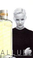 CARTE PARFUMEE CHANEL ALLURE - D'AVANT 1998. RECTO / VERSO / PATCH - Perfume Cards