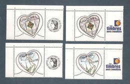 France, 3632A, 3633A, Avec Vignette Cérès Et TPP, Neuf **, TTB, Saint-Valentin, Coeur, Karl Lagerfeld - Personalisiert