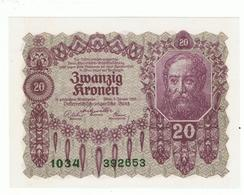 AUSTRIA»20 KRONEN»1922 FIRST ISSUE»PICK- 76»UNC - Oostenrijk