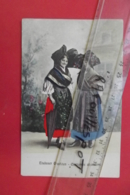 Cp Elsasser Grachten Costumes Alsaciens Couleur - Europe
