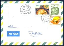 K318- Postal Used Cover. Posted From Brasil Brazil To Pakistan. - Brazil
