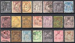 FRANCE - YT N° 83 à 105 (sauf 84) - Cote: 437,00 € - France