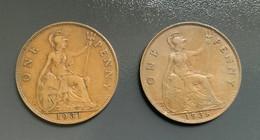 GRAN BRETAGNA  - ENGLAND  1931  Moneta 1 PENNY Giorgio V - 1 Penny & 1 New Penny