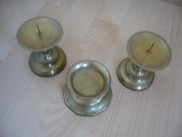 3x Kerzenständer Aus Messing  (753) - Andere Sammlungen
