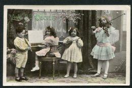 11453  CPA  Sainte Cécile : Enfants Musiciens - Fêtes - Voeux