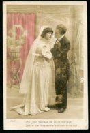 11456  CPA  Mariage : Carte De Félicitations - Evénements