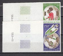 Football / Soccer / Fussball - WM 1974:  Mali  2 W **, Imperf. - Fußball-Weltmeisterschaft