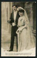 11458  CPA    Mariés Avec Message De Félicitations - Couples