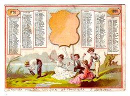 Chromo Calendrier 1880, Imp. ?, Picnic - Autres