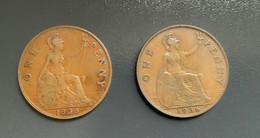 GRAN BRETAGNA  - ENGLAND  1935  Moneta 1 PENNY Giorgio V - 1 Penny & 1 New Penny