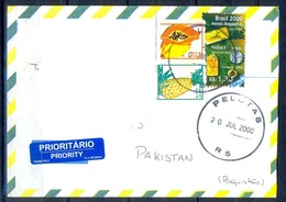 K326- Postal Used Cover. Posted From Brasil Brazil To Pakistan. - Brazil