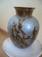 Vase Aus Messing Mit Emaile-Muster älter  (754) - Andere Sammlungen