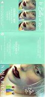 CARTE PARFUMEE LES BELLES NINA RICCI - RECTO / VERSO / TRIPLE PATCH - EXCELLENT ETAT - - Perfume Cards