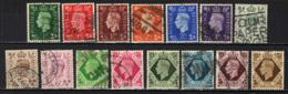 GRAN BRETAGNA - 1937 - EFFIGIE DEL RE GIORGIO VI (PRIMA SERIE) - USATI - Usati