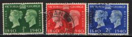 GRAN BRETAGNA - 1940 - CENTENARIO DEL FRANCOBOLLO - EFFIGI DELLA REGINA VITTORIA E DEL RE GIORGIO VI - USATI - Usati