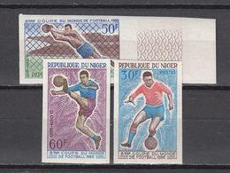 Football / Soccer / Fussball - WM 1974:  Niger  3 W **, Imperf. - Fußball-Weltmeisterschaft