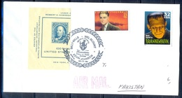 K338- Postal Used Cover. Posted From USA To Pakistan. - United States
