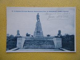 BEAUMONT HAMEL. Le Mémorial Du Newfoundland Park De La 51e Division Des Highlands. - Other Municipalities