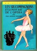 """Bibliothèque Verte - Série 6C - Paul-Jacques Bonzon - """"Les Six Compagnons Et Le Petit Rat De L'opéra"""" - 1974 - Bibliotheque Verte"""