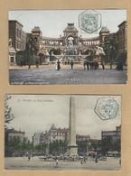 Y/T 111 Sur Deux CP Marseille En Couleur Cachet Hexagonal Exposition Coloniale 3/6/09 Pour Les 2 - 1877-1920: Semi Modern Period