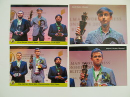 4 PCs Lot World Champion Rapid And Blits 2018  - Schach  - Ajedrez - Echecs - Echecs