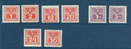 Timbres Neufs* D'autriche, N°171, 172,176, 177, 178, 179, 181, 183 Yt, Taxe, Dentelés, Trace De Charnières - 1850-1918 Empire