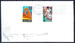K351- Postal Used Cover. Posted From USA To Pakistan. Soocers World Cup 1994. Sports. - United States