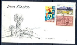 K352- Postal Used Cover. Posted From USA To Pakistan. Sports. Marathon. Mountains. - United States