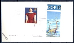 K354- Postal Used Cover. Posted From USA To Pakistan. Anilams. Dinourse. - United States