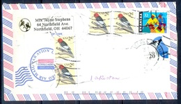 K355- Postal Used Cover. Posted From USA To Pakistan. Birds. - United States