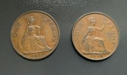 GRAN BRETAGNA  - ENGLAND  1937  Moneta 1 PENNY Giorgio VI - 1971-… : Monete Decimali