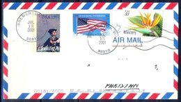 K361- Postal Used Cover. Posted From USA To Pakistan. Flag. Plants. Flowers. - United States